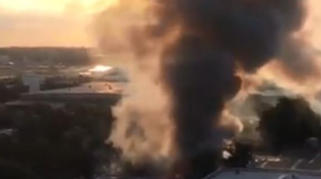 Fire breaks out next to Sydney Airport