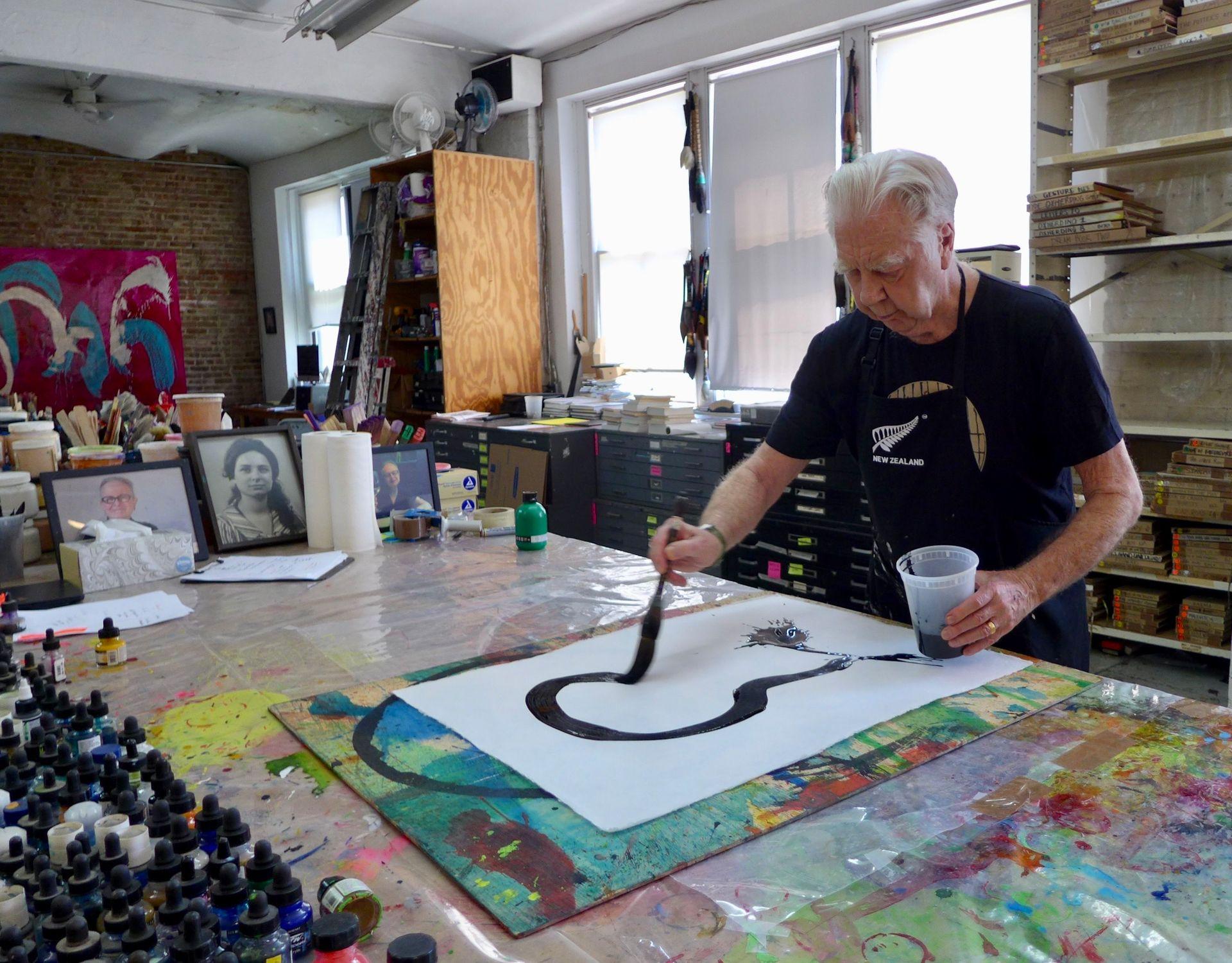 Kiwi star of the art world: Max Gimblett on keeping the faith and