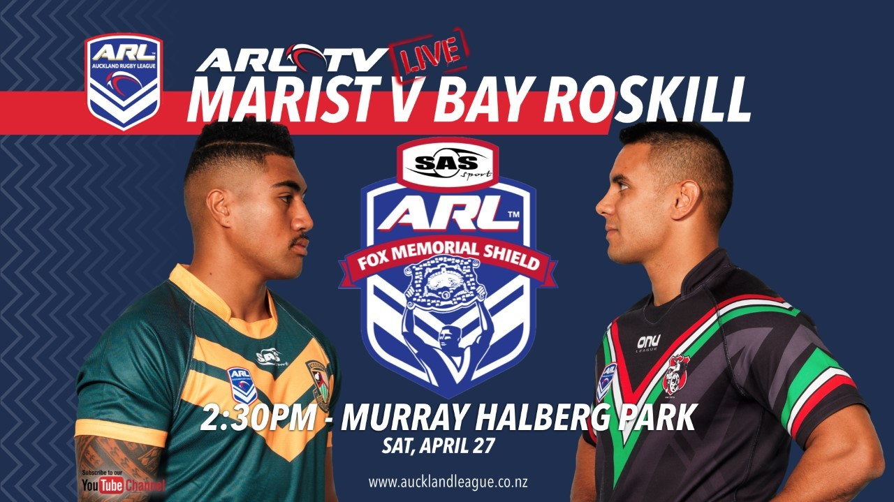Live streaming: Auckland Rugby League - Marist v Bay Roskill