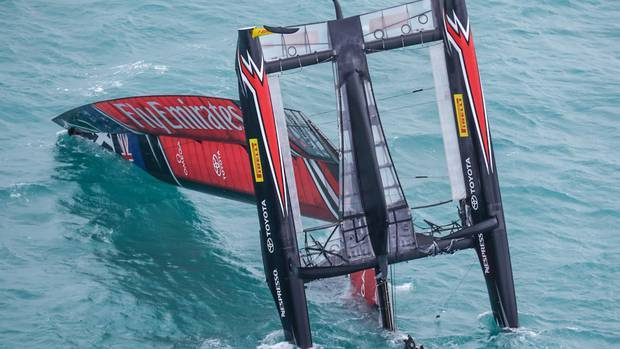 America's Cup: On this day - Emirates Team New Zealand's scary day of carnage