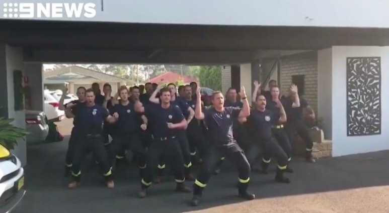 Watch: Kiwi firefighters' emotional haka for Australian comrades