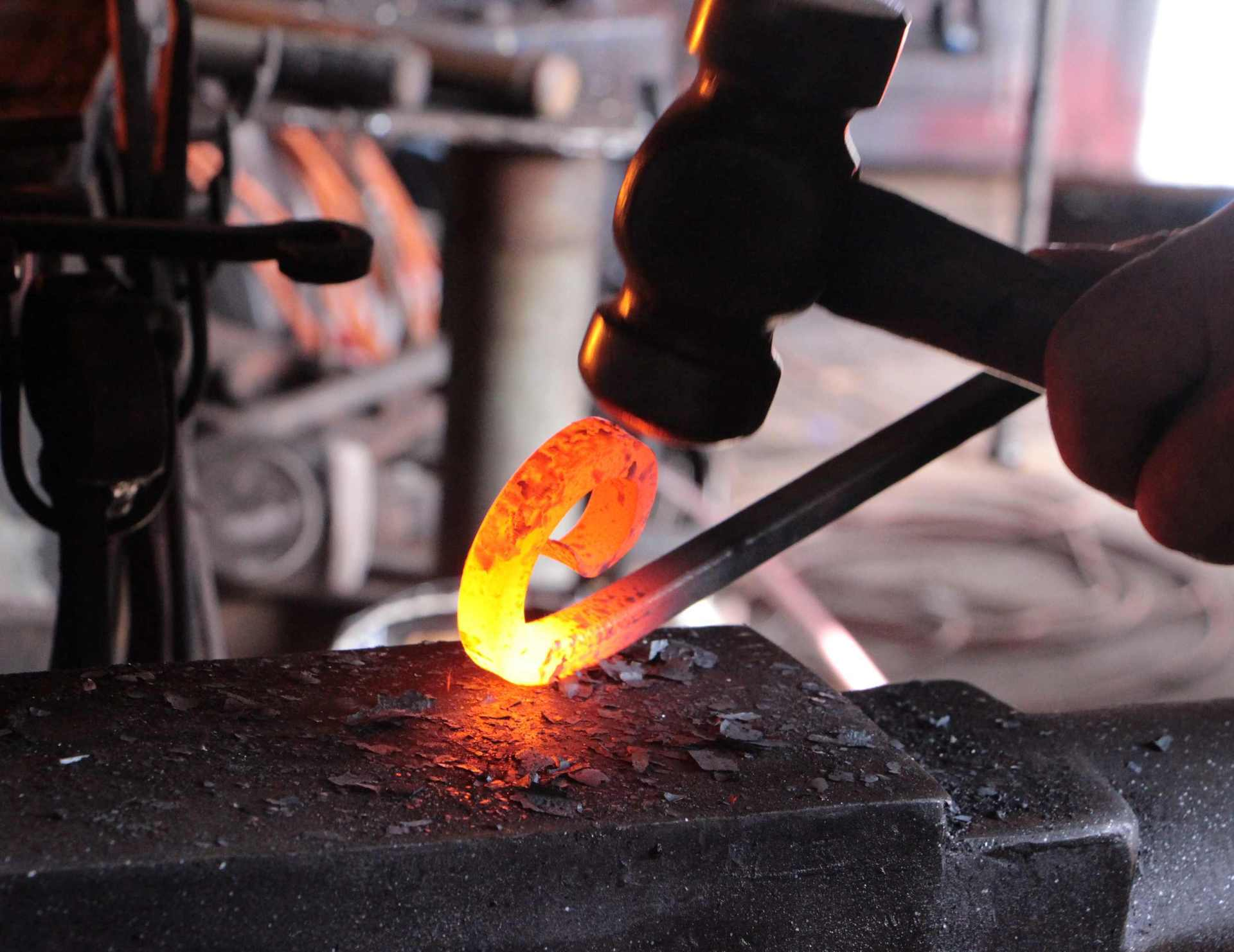 Forging things of beauty - Stratford blacksmith keeps