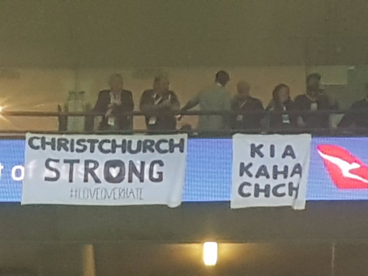 Super Rugby: Security remove banners of support for Christchurch in Crusaders v Waratahs clash