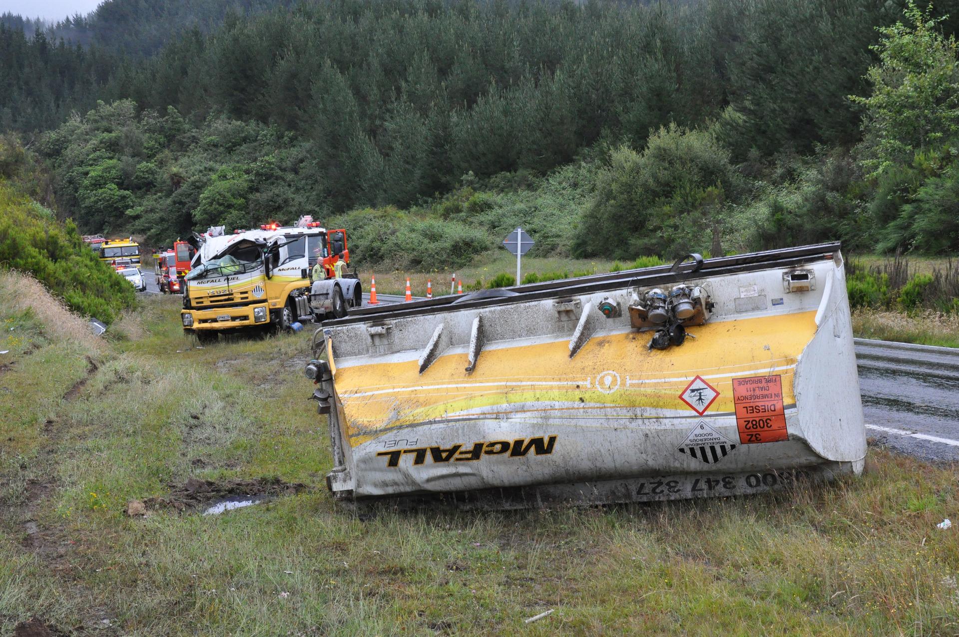 SH 1 reopens after petrol tanker rolls in Ohakuri - NZ Herald