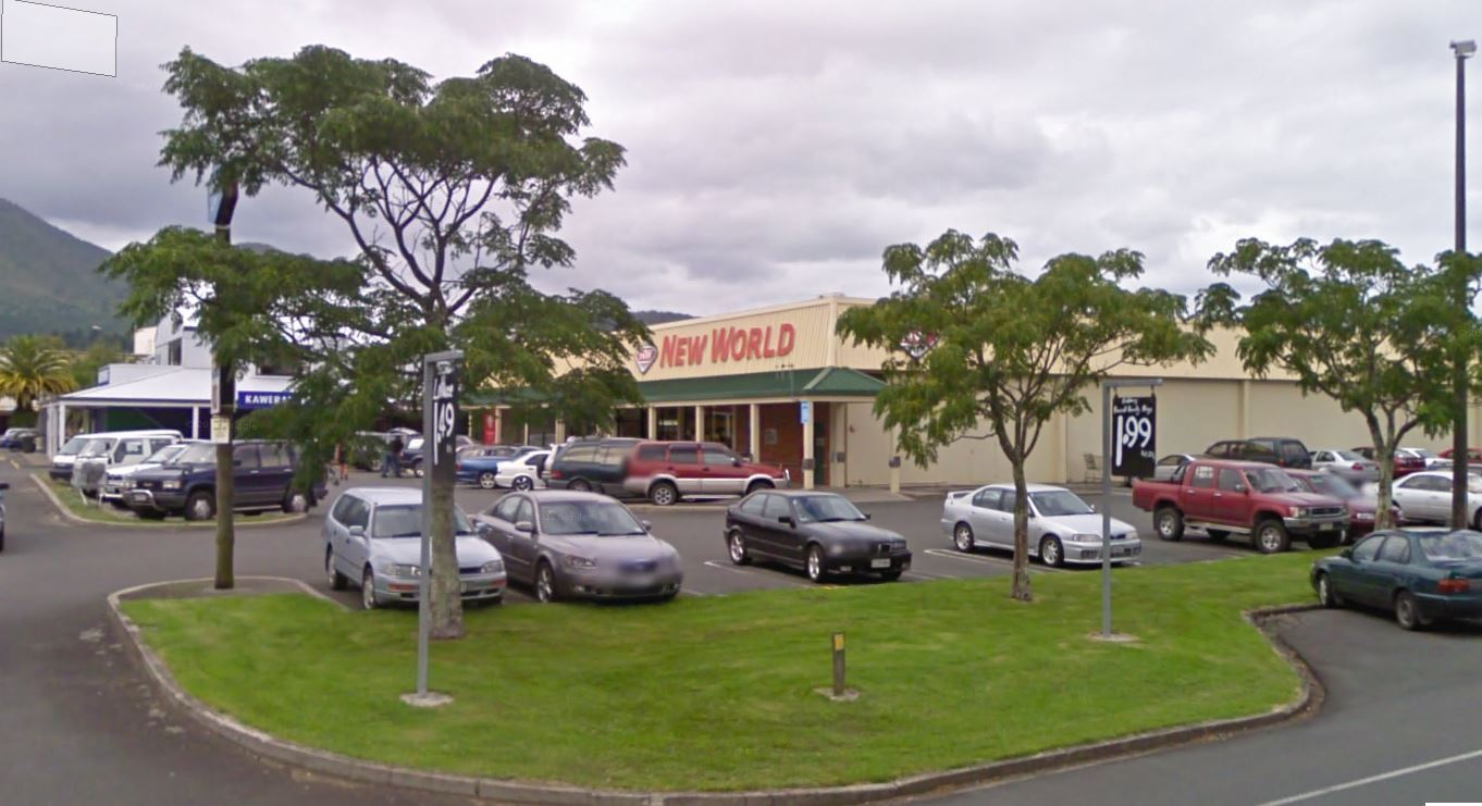 New World supermarket saved from fire in Kawerau's town centre