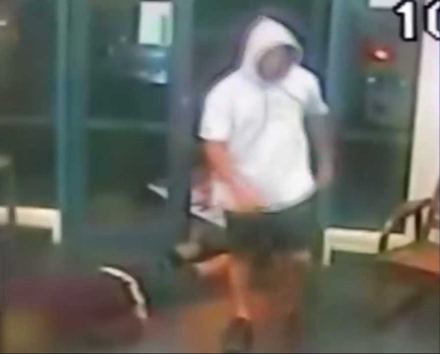 Video: Pizza parlour attack - 'he's fallen like a rag doll'