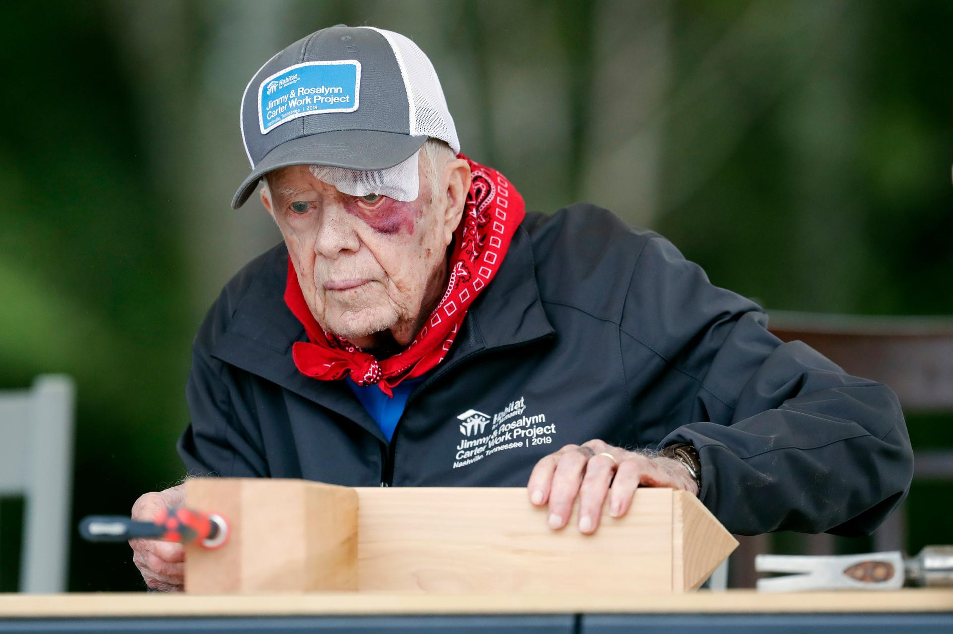 Former President Carter, 95, still helping community after fall