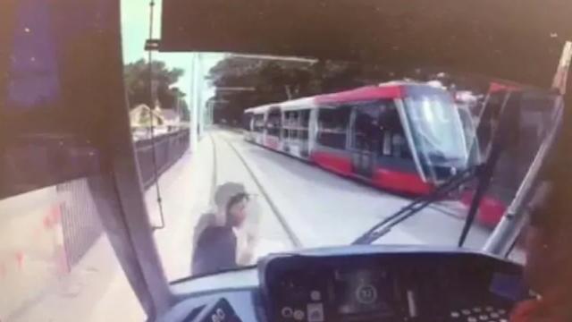 CCTV shows boy hit by tram in Sydney
