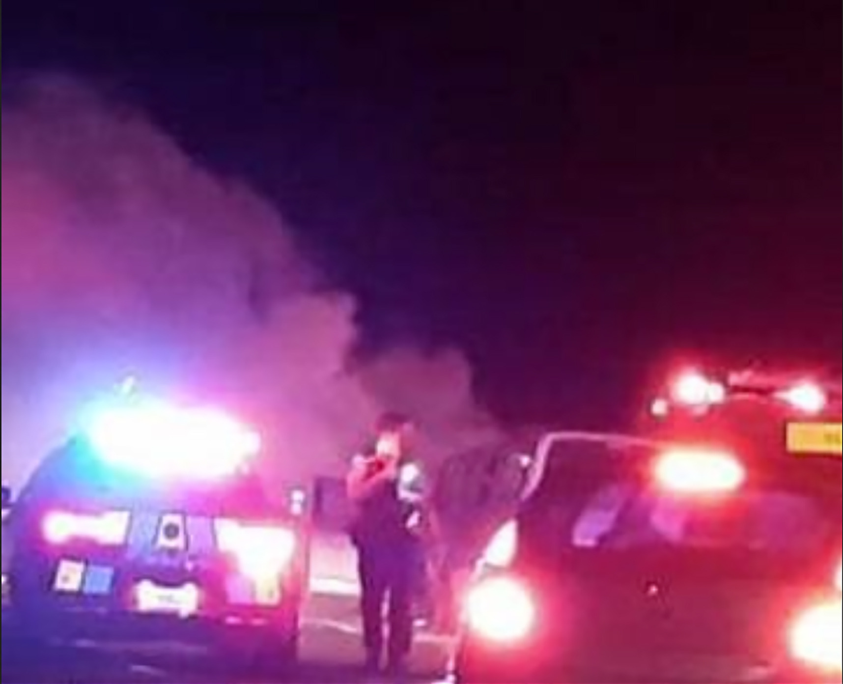 Motorist's desperate scream for help to remove driver trapped in burning car
