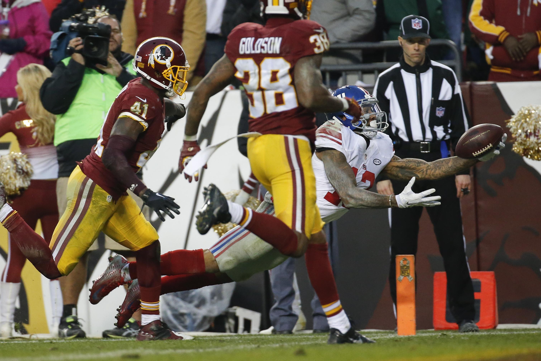 b06900e0c9609 NFL: New York Giants' Odell Beckham Jr produces stunning diving touchdown  catch - NZ Herald