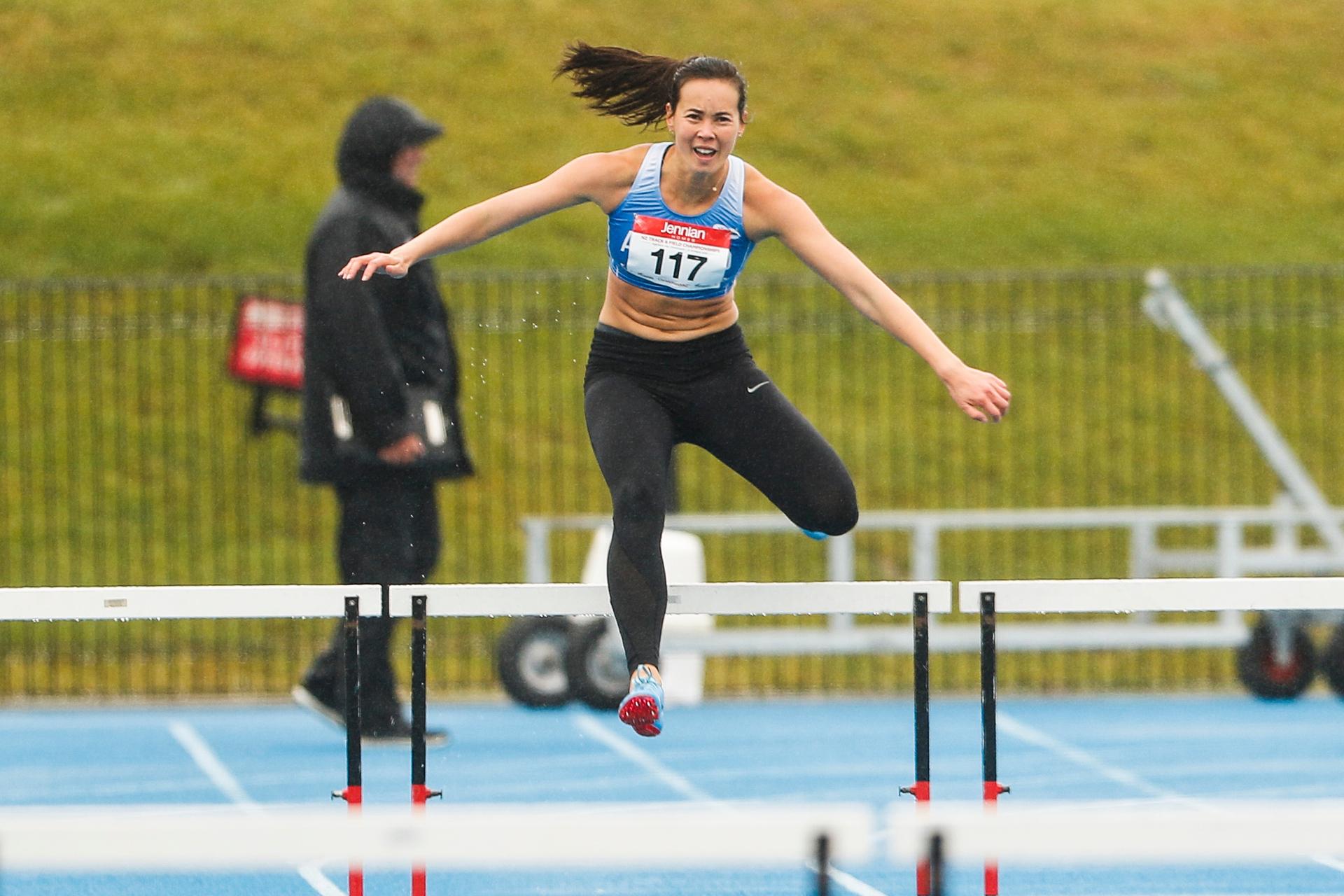Athletics: Portia Bing gets over her biggest hurdle