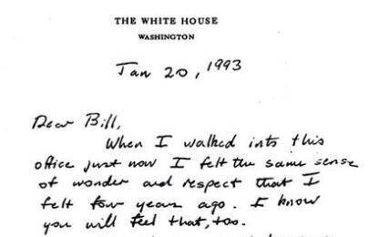 George H.W. Bush's classy letter goes viral