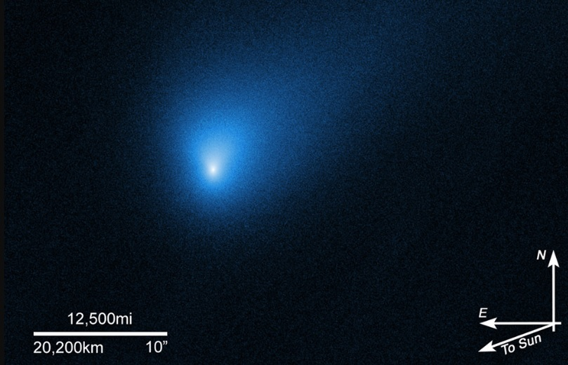 Alien comet soars through our solar system