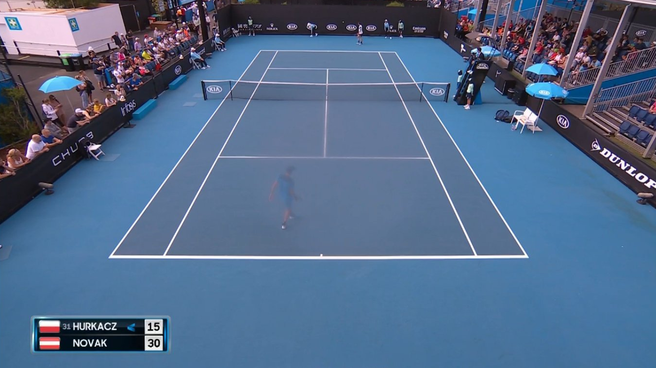 'Spooky' camera illusion at Aus Open