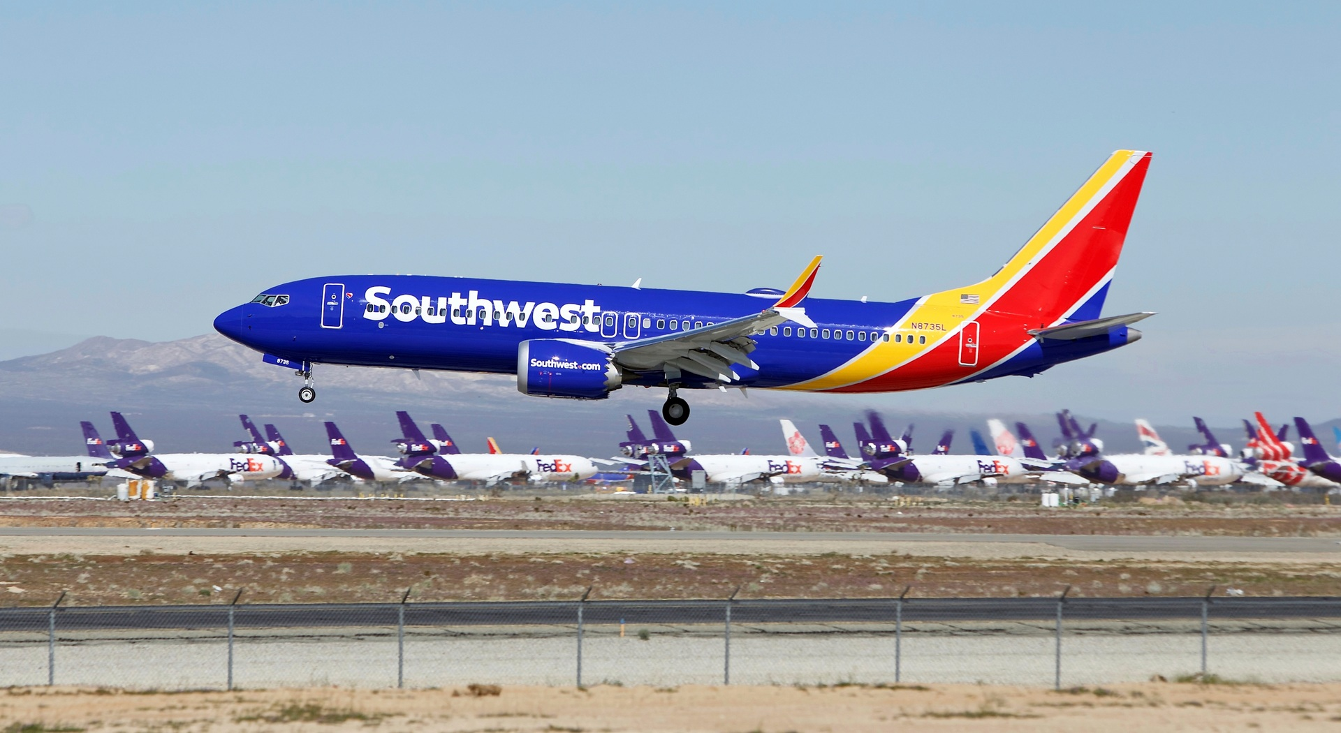 Southwest Airlines Boeing 737 Max makes emergency landing on way to storage