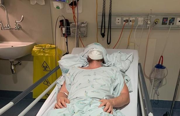 'Face of measles': Wife's plea as man battles brain swelling