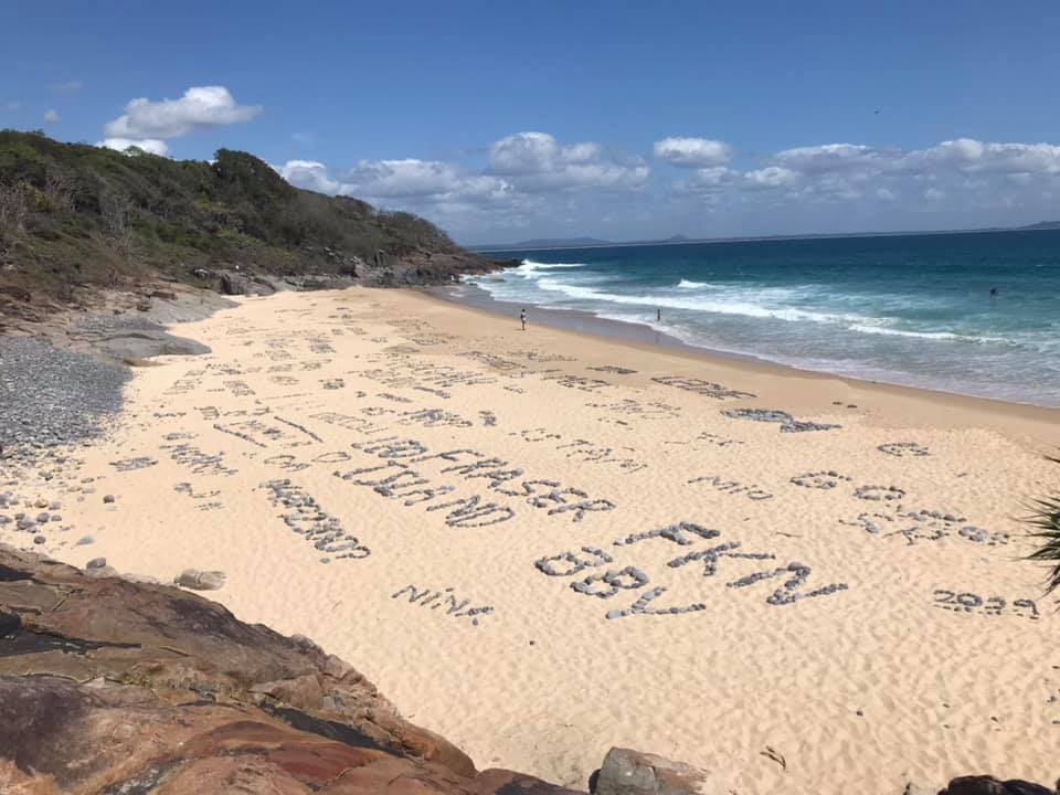 Noosa locals outrage at backpacker beach graffiti
