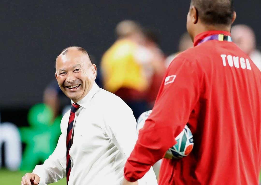 What does that mean? Eddie Jones says US will to play like '15 Donald Trumps'