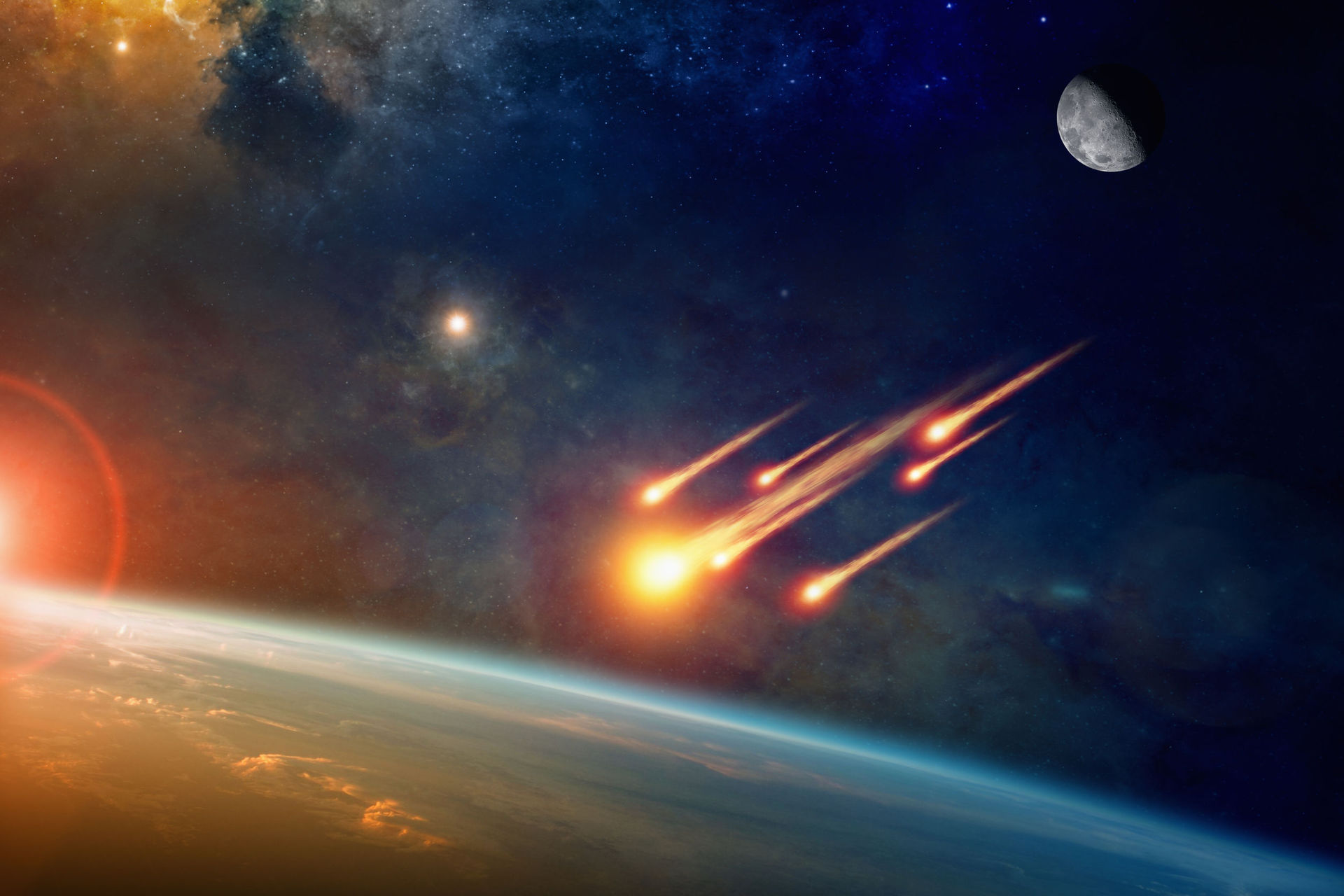 Three large asteroids prompt Nasa to issue near-Earth object
