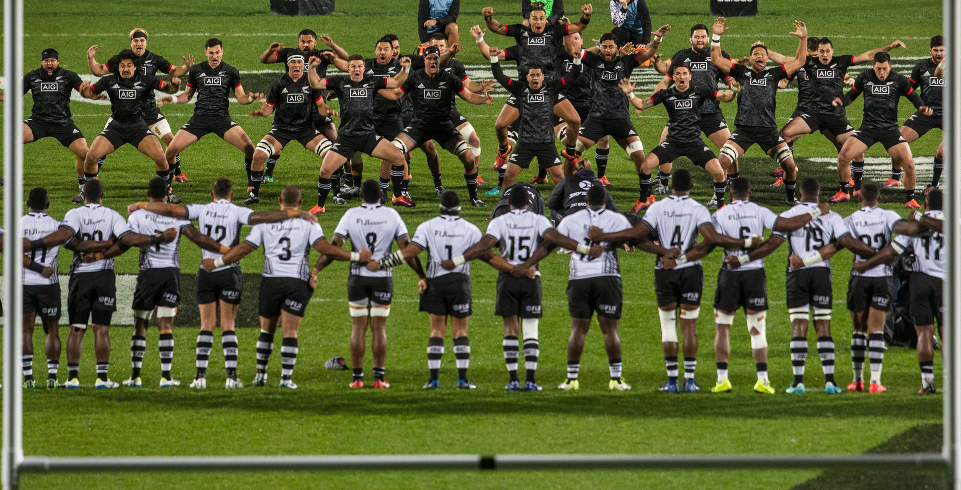 Māori All Blacks haka formation in game against the Flying Fijians was not intended to be malicious