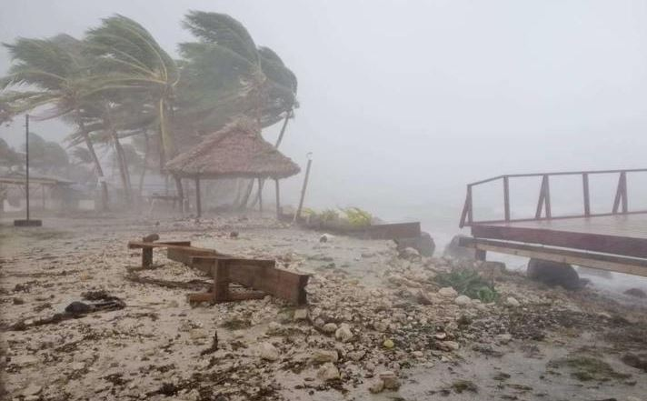 'It swept right over': Tuvalu inundated by waves whipped up by Cyclone Tino