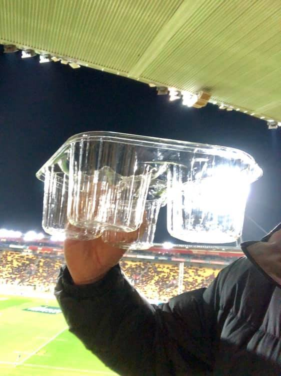 Fan concerned for environment: Westpac Stadium charging $1 for new plastic drink tray