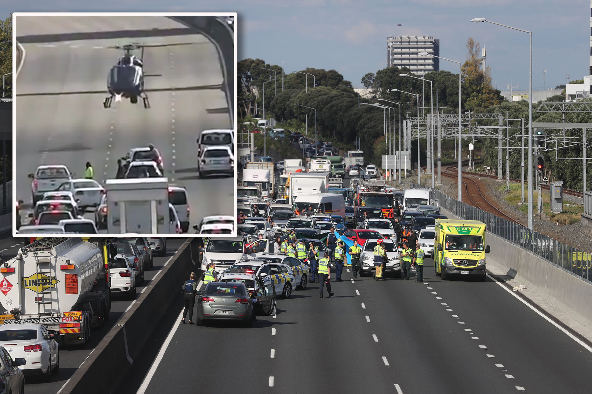 Traffic chaos: One person dead after fall from vehicle on