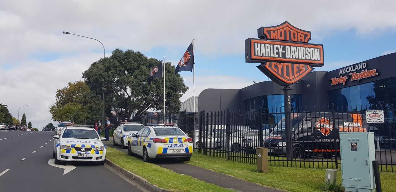 Reports of a shooting at Harley Davidson store in Auckland