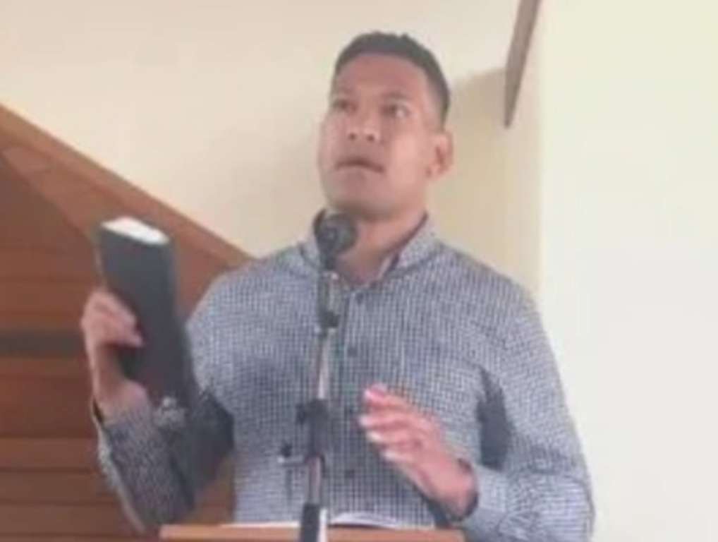 'God' responds to Israel Folau's explosive bushfire blame