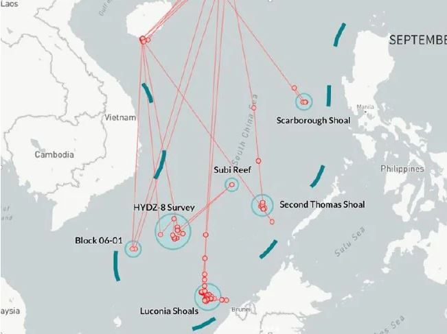 'Region on the brink': Map exposes China's 'menacing' true mission