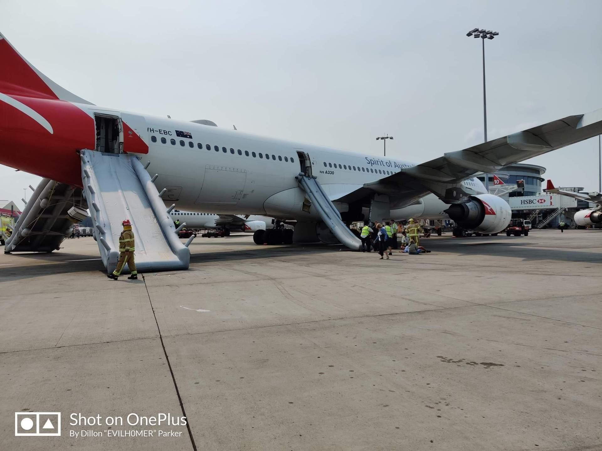 Qantas jet terror ' blood gushing out'