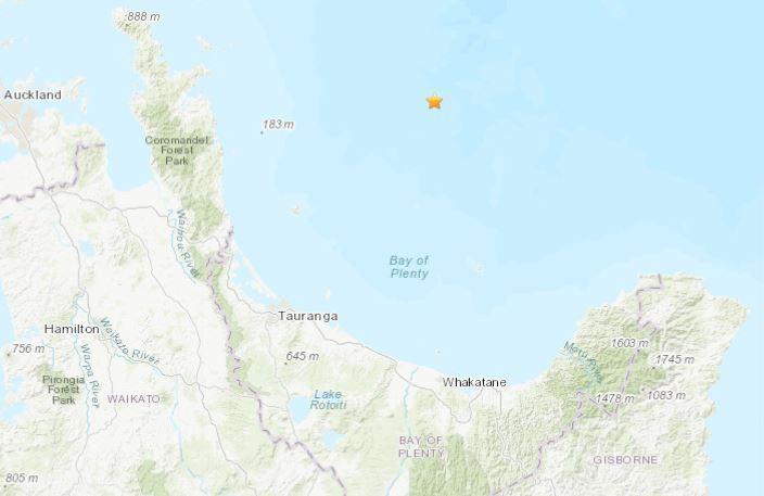Magnitude 5.5 quake strikes off coast of Coromandel