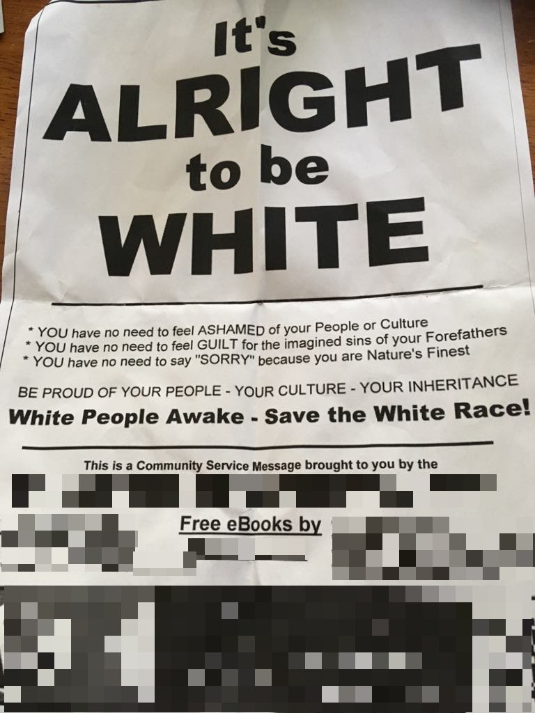 'Vile and racist': Tauranga community reacts to white supremacist flyer