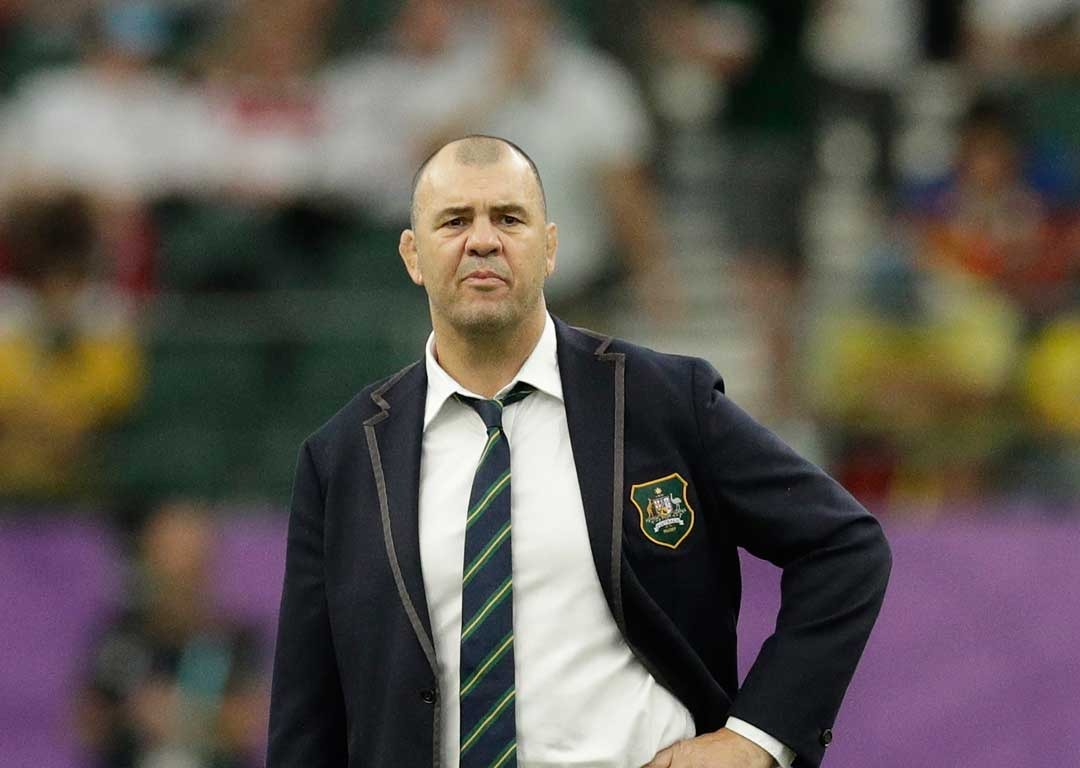 Cheika drops f-bomb in final interview after World Cup exit