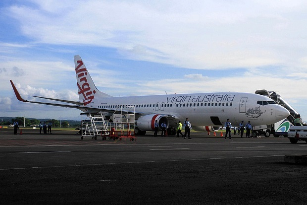 Flying from Melbourne to Auckland aboard Virgin Australia