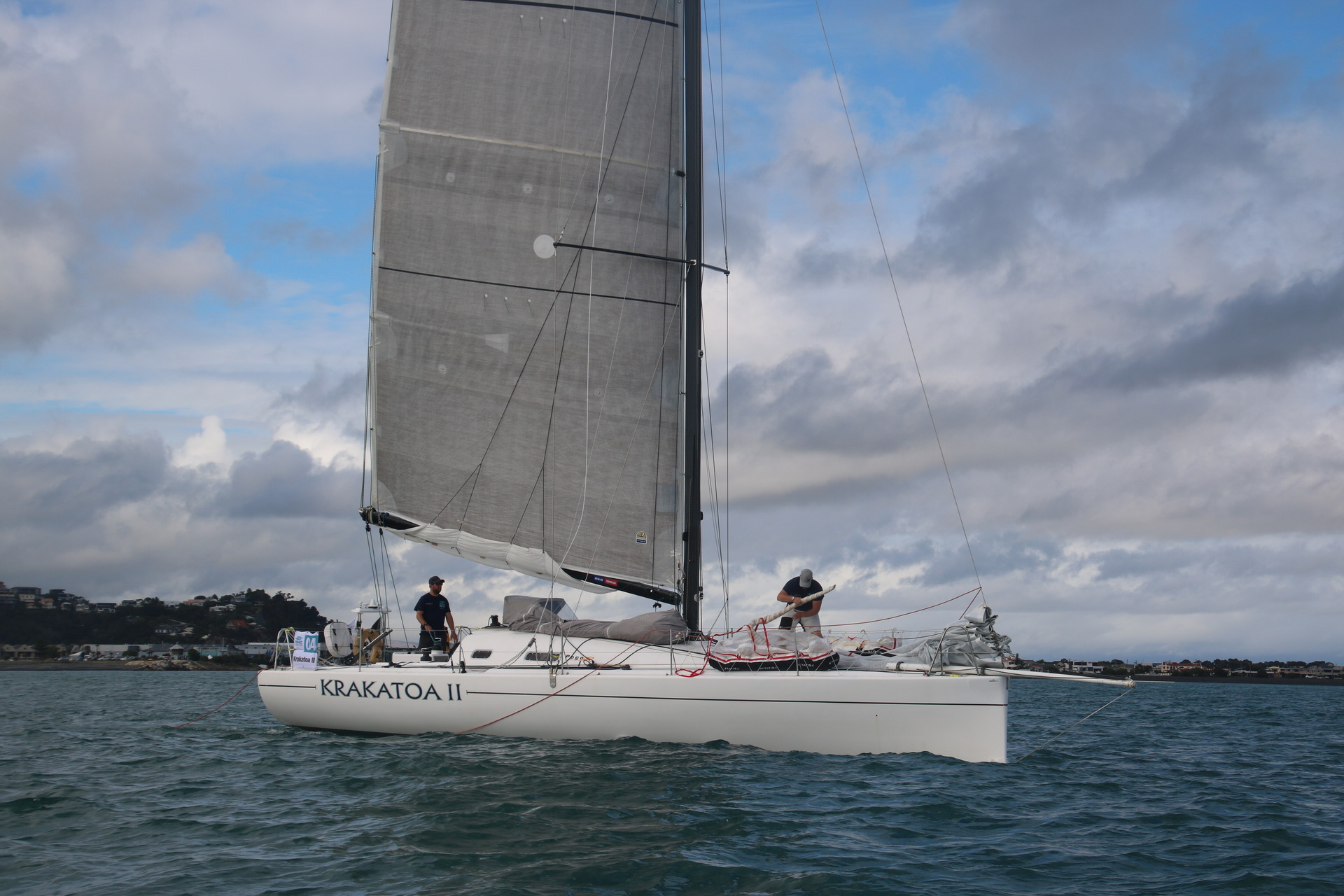 Sailing: Krakatoa II returns to Napier after co-skipper concussed in fall