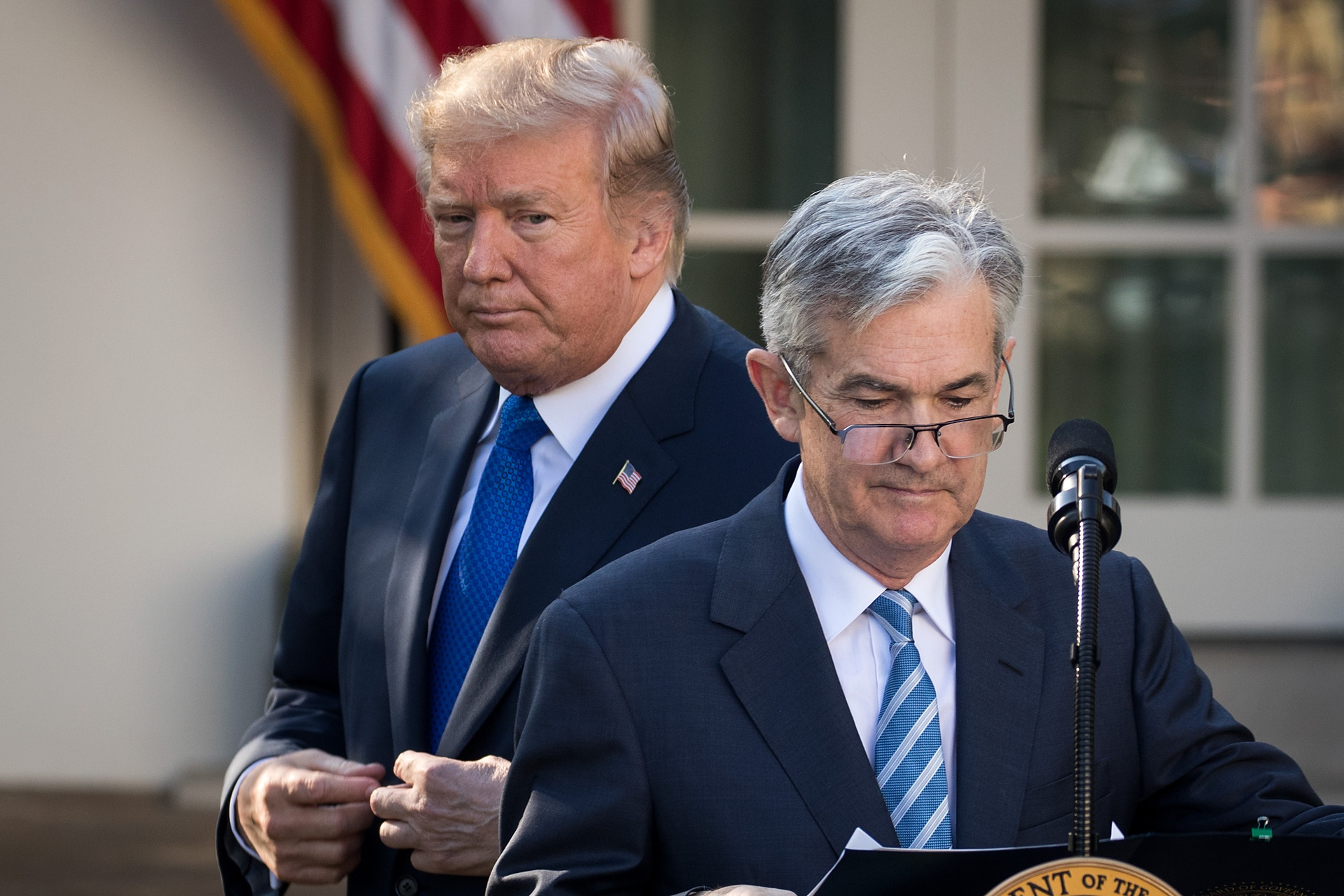On economy, more Americans see Donald Trump in charge than the Fed chair Jerome Powell