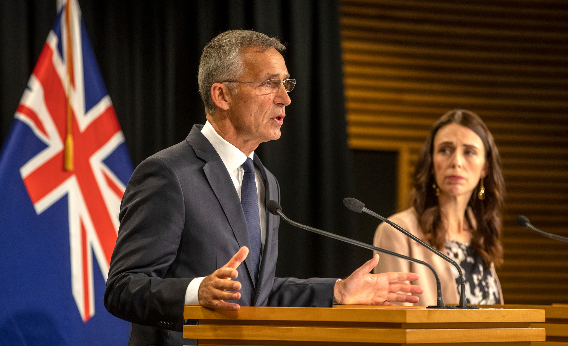 Nato boss Jens Stoltenberg addressed the Royal Commission investigating the March 15 shooting