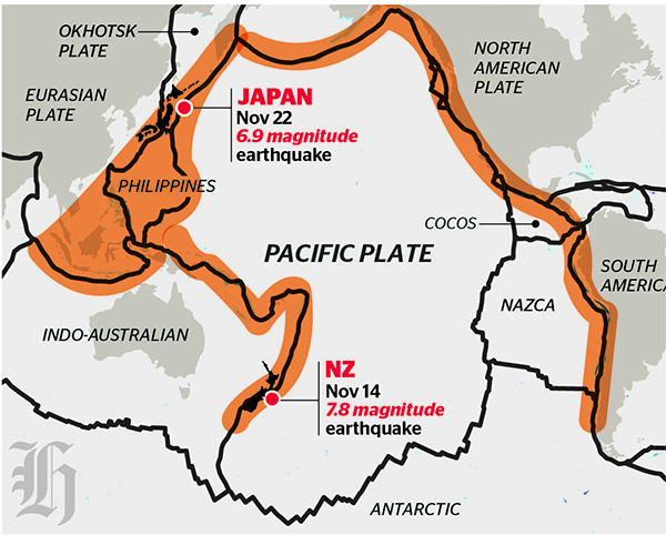 Ring of Fire: Countries constantly struck by volcanic