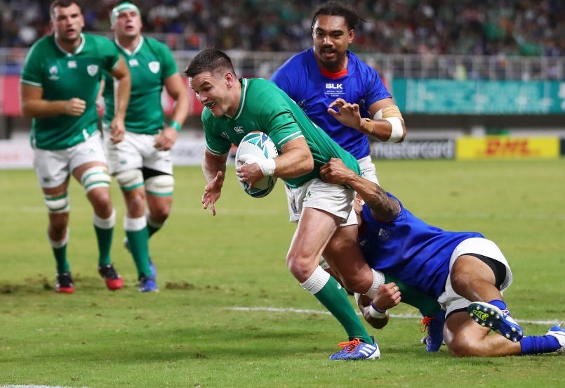 Into the quarters! 14-man Ireland seal spot with Samoa smashing