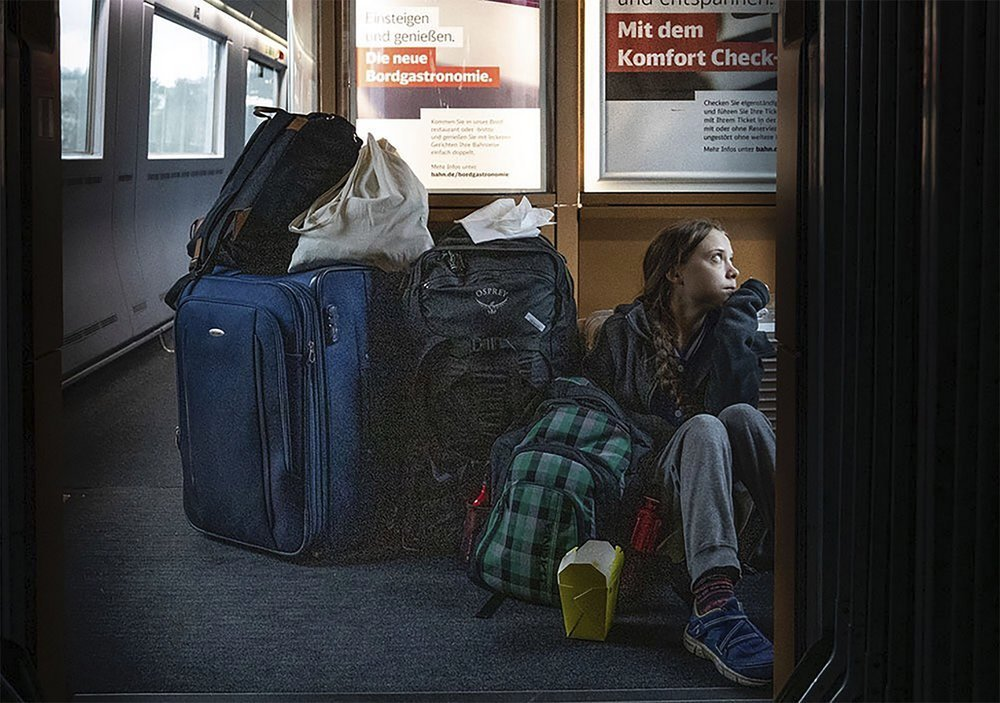 Controversy over Greta Thunberg's 'overcrowded' train photo