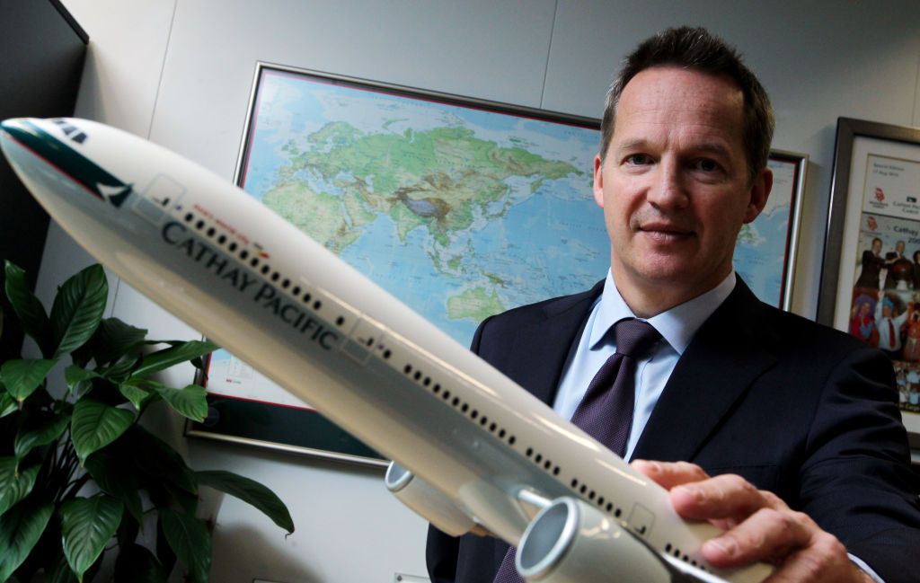 CEO of Hong Kong's flagship airline resigns amid pressure from China