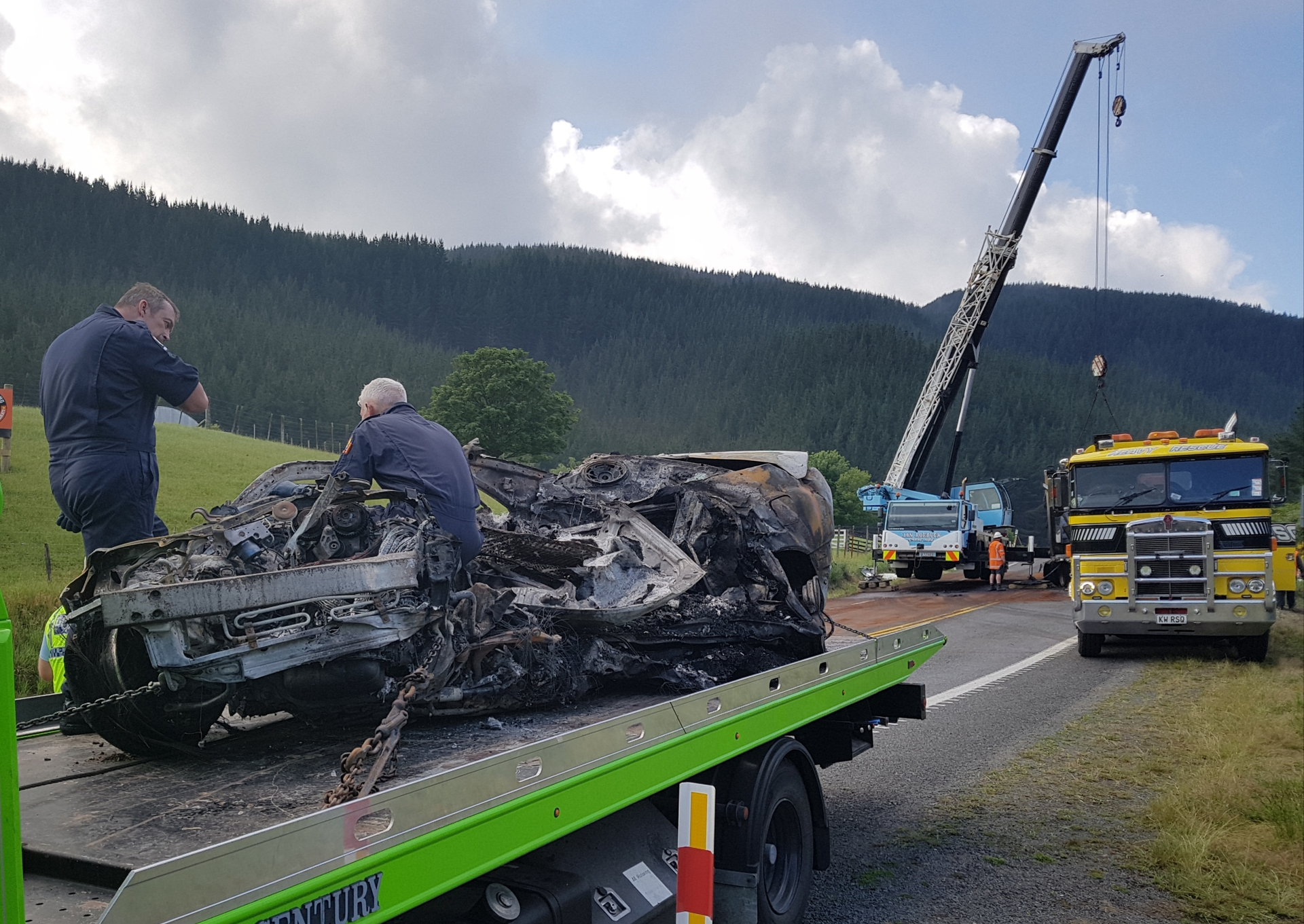 Driver dies in fiery crash on State Highway 1 north of Taupo
