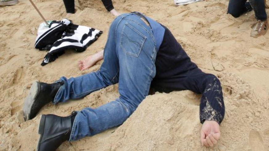 Bizarre scenes on famous Aussie beach