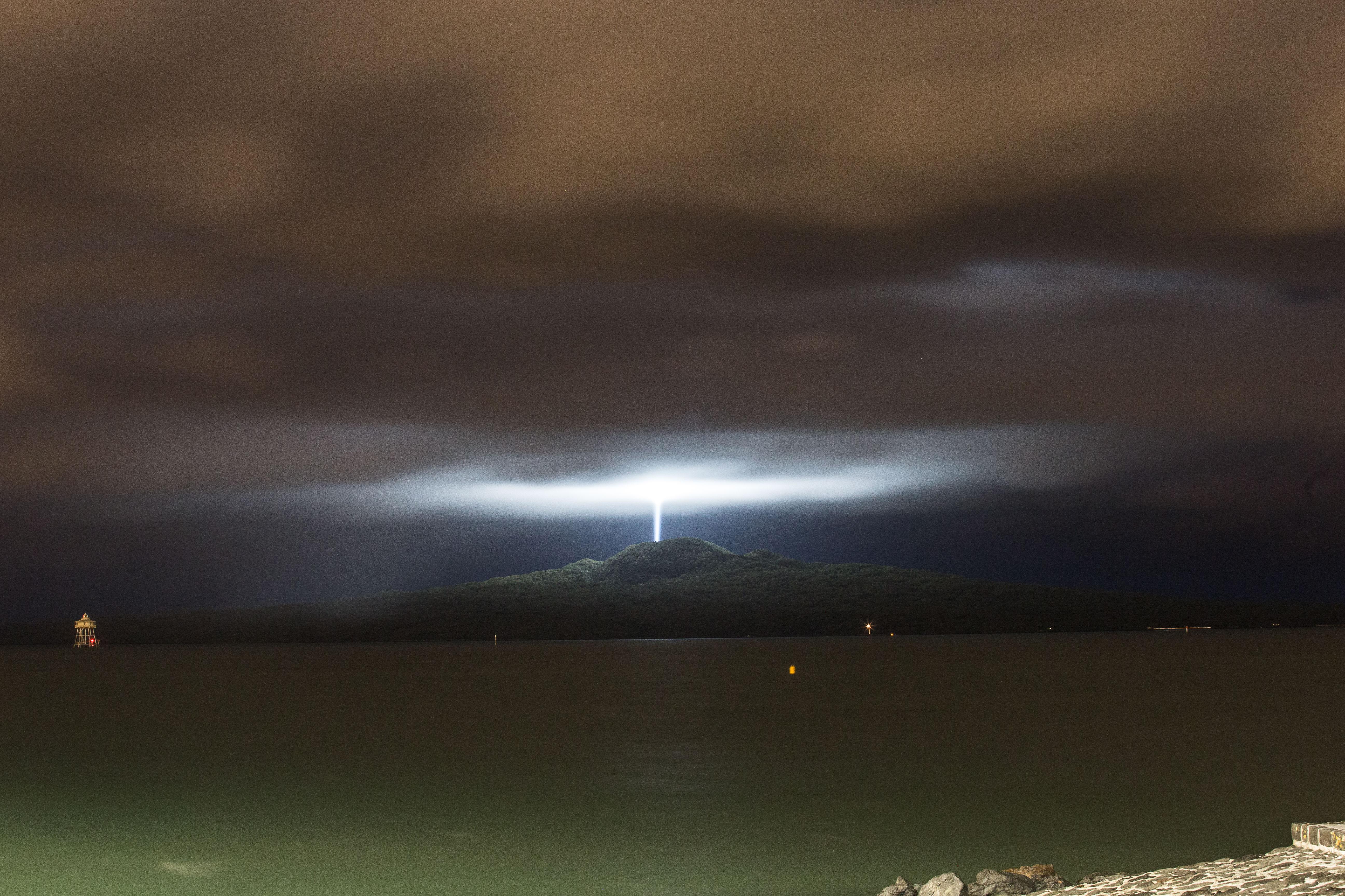 No aliens here: Rangitoto light show celebrates city's Maori heritage