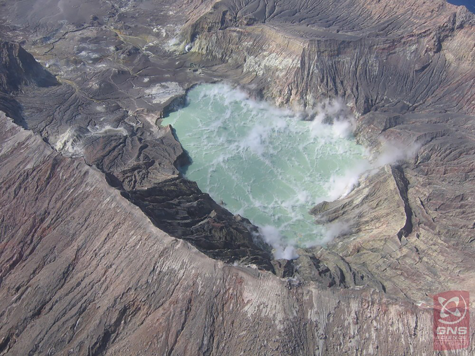 White Island's crater lake now less likely to overflow