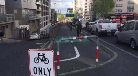 Bike Auckland's cheeky dig at motorists stuck in SkyCity fire gridlock