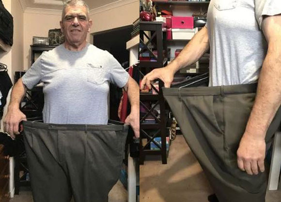 Incredible reason behind grandad's 83kg weight loss