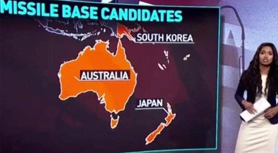 Say what? TV station red-faced after butchering NZ on world map