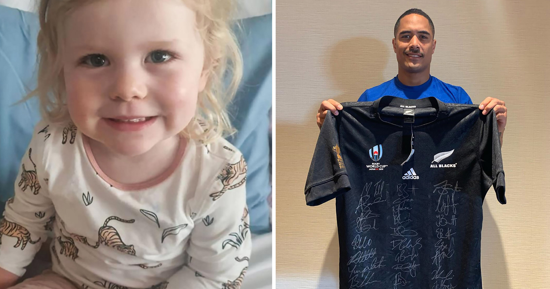 Girl in fight of her life gets help from All Blacks
